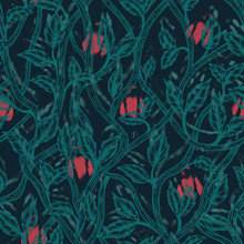 Seamless Floral Pattern With R...