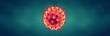 Coronavirus or Flu virus - Microbiology And Virology Concept