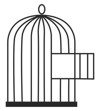 Bird Cage, Illustration, Vecto...