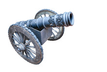 Thai Ancient Cannon Isolated O...