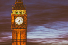 London Big Ben Clock Tower And...