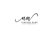 Letter NM Handwrititing Logo W...