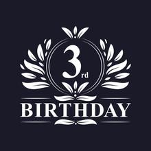 3rd Birthday Logo, 3 Years Bir...