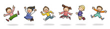 ジャンプする子供たち...