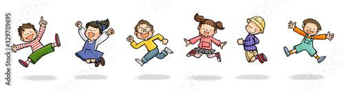 Papel de parede ジャンプする子供たちAセット