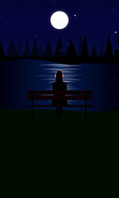 Dark Poster Of Silhouette Of W...