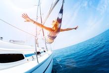 Young Woman Enjoys Tropical Sa...