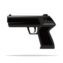 Pistol Handgun Vector Isolated...
