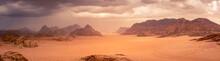 Wadi Rum Desert In Jordan Unde...
