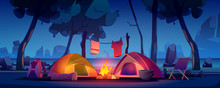 Summer Night Camp With Tent, C...