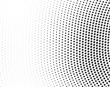 Abstract Monochrome Halftone T...