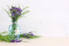 Summer Bouquet Of Purple Field...