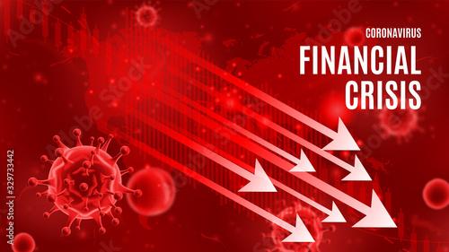 Fotografía Coronavirus financial crisis banner concept
