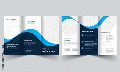 Fototapeta Corporate Business Trifold Brochure obraz