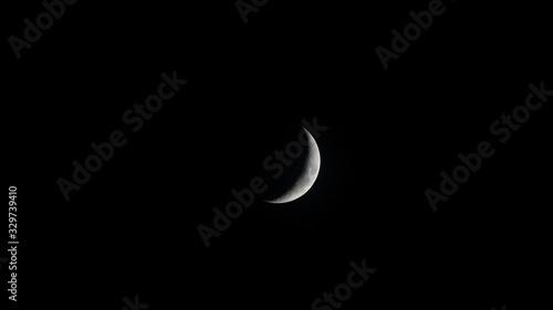 Valokuva Waxing Crescent Moon