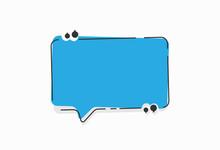 Speech Bubble Quote Icons Flat Vector Design
