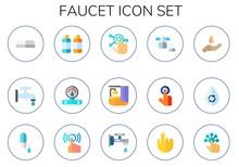 Faucet Icon Set