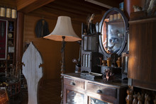Old Mirror And Reflective Mirror,  Antique Dressing Table