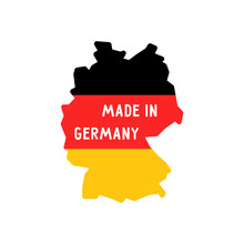 Made In Germany Words On Map