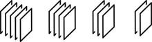 Layer Icon, Vector Line Illust...