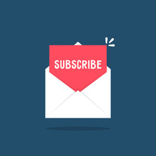 White Letter With Subscribe Newsletter