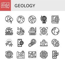 Geology Icon Set
