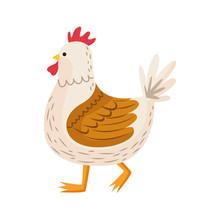Cute Hen Bird Easter Character