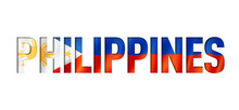 Philippines Flag Text Font