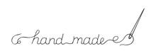 "Handwritten Words ""hand Made"" ..."