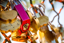 Padlocks Symbols Of Love Hangi...