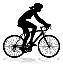 Bicyclist Riding Their Bike An...