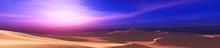 Sand Dunes Under The Sunset Sk...