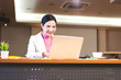 Portrait of happy smile office business asian working elegant woman.