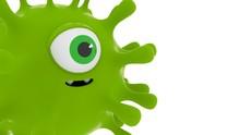 Coronavirus Character Green He...