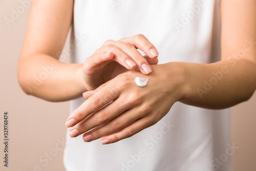 Photo hand skin protection