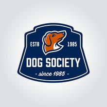 Dachshund Dog Head Vintage Badge