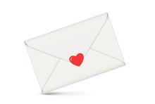 Brief Mit Herz, Liebesbotschaf...