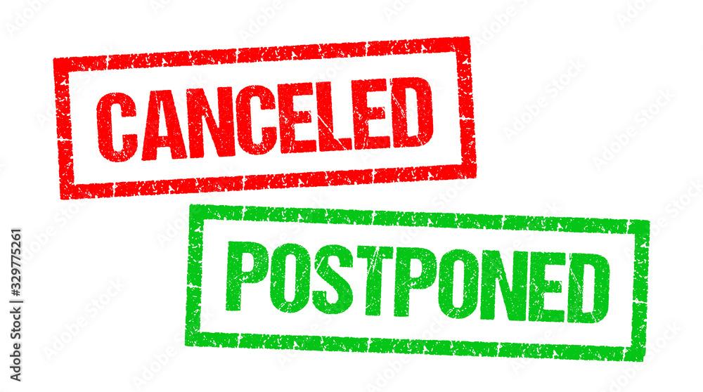 Fototapeta Canceled / Postponed