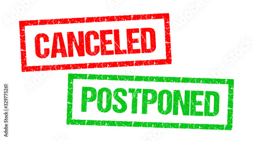 Obraz Canceled / Postponed - fototapety do salonu