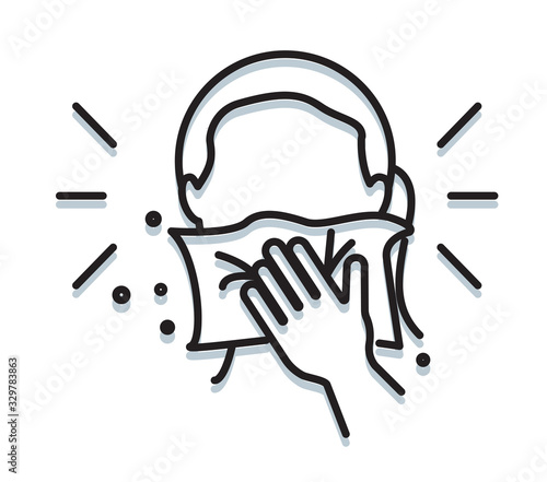 Foto Personal Hygiene - Cover Mouth while sneezing - Icon