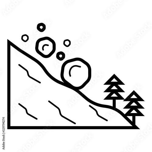 Photo avalanche icon on white background