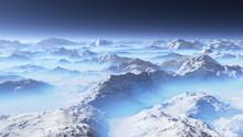 Frozen Planet. Alien Landscape