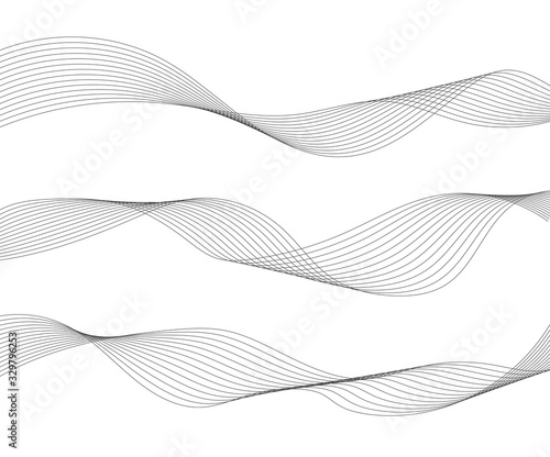 Obraz Wave lines isolated on white background. Curved wavy line. Vector illustration - fototapety do salonu