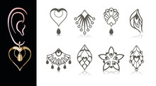 8 Earring Designs. Cutout Jewe...