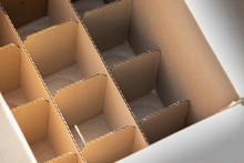 Cardboard Partition For Beverage Or Spray Bottles. Packaging Concept.