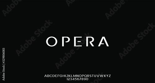 Fototapeta opera, the luxury elegant font typeface alphabet set