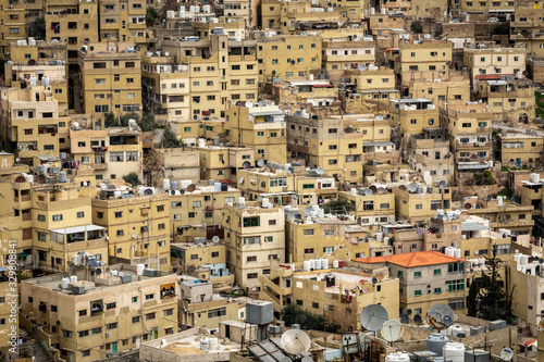 Very dense residential housing and building of middle eastern city of Amman, Jordan Wallpaper Mural