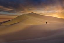 Sunset Over Ibex Dunes In Death Valley, CA