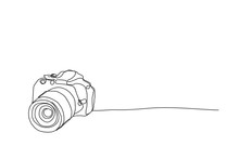 Camera ,line Drawing Style, Ve...