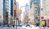 Fototapeta Nowy Jork - Columbus Circle, New York - March 8, 2020: New York City a Week Before The Citywide Shutdown Because of the Coronavirus Pandemic.
